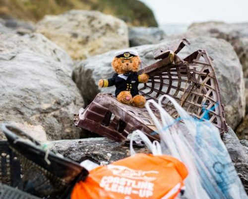 Ted Funnel with rubbish